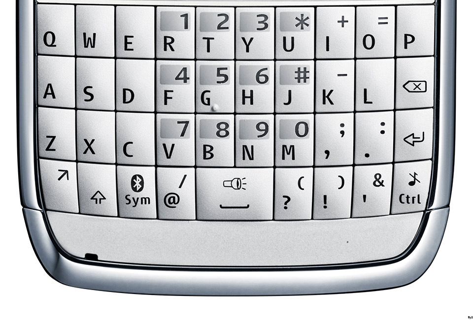 QWERTY keyboard on phone