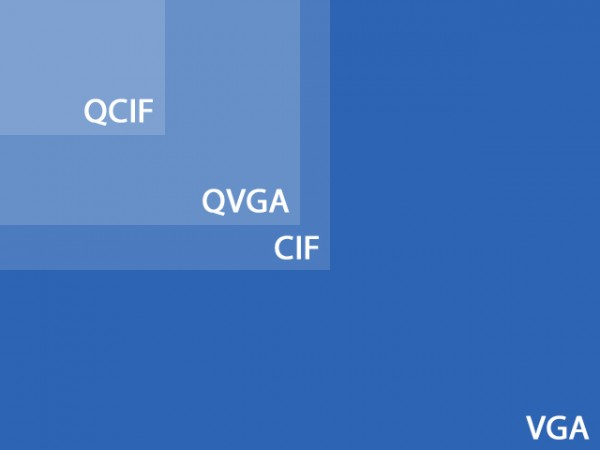 QCIF, QVGA, CIF and VGA
